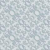 Абстрактный бумажный цветочный узор Стоковое Фото