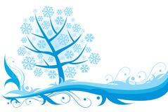 абстрактный вал снежинок рождества Стоковые Изображения RF