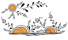 абстрактный вектор весны иллюстрации Стоковые Фотографии RF