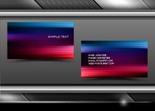 абстрактный вектор визитных карточек творческий иллюстрация штока