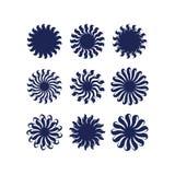 Абстрактный вектор геометрии цветка солнца Стоковое Фото