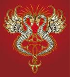 абстрактный вектор дракона Стоковые Изображения RF