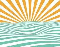 абстрактный вектор лета Стоковое Фото