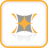 абстрактный вектор интернета иконы Стоковое Изображение