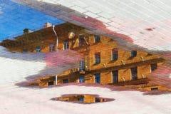 абстрактный вектор иллюстрации городского пейзажа предпосылки Стоковое фото RF