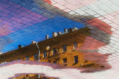 абстрактный вектор иллюстрации городского пейзажа предпосылки Стоковые Изображения
