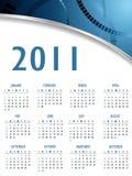 абстрактный вектор календара 2011 Стоковые Изображения