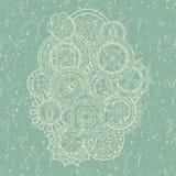 абстрактный вектор карточки Конструкция год сбора винограда бесплатная иллюстрация