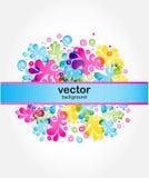 абстрактный вектор карточки Стоковые Изображения RF