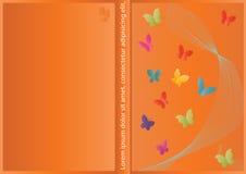 абстрактный вектор конструкции крышки бабочки Иллюстрация вектора