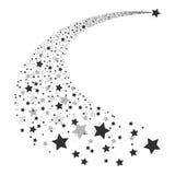 Абстрактный вектор падающей звезды Стоковая Фотография