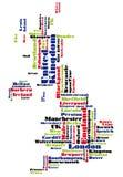 абстрактный вектор Португалии карты иллюстрация штока