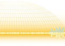абстрактный вектор предпосылки eps8 золотистый Стоковое Изображение