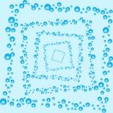 абстрактный вектор предпосылки Воздушные пузыри в воде Стоковое Изображение RF