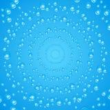 абстрактный вектор предпосылки Воздушные пузыри в воде Стоковые Изображения RF