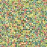 абстрактный вектор предпосылки Состоит из геометрических элементов Элементы имеют квадратные форму и другой цвет Стоковые Фотографии RF