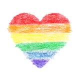 абстрактный вектор радуги иллюстрации сердца предпосылки Стоковые Фото