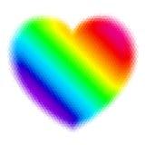 абстрактный вектор радуги иллюстрации сердца предпосылки иллюстрация штока
