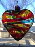 абстрактный вектор радуги иллюстрации сердца предпосылки Стоковое Изображение RF