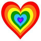 абстрактный вектор радуги иллюстрации сердца предпосылки Стоковые Изображения