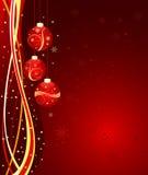 абстрактный вектор рождества предпосылки Стоковые Изображения