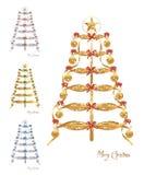 абстрактный вектор рождественских елок cdr Стоковые Фотографии RF
