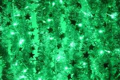 абстрактный вектор света иллюстрации зеленого цвета bokeh предпосылки Стоковые Фото