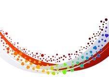 абстрактный вектор сердец предпосылки иллюстрация штока