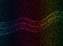 абстрактный вектор сердца предпосылки Стоковое фото RF
