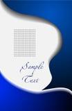 абстрактный вектор сини предпосылки Стоковое Изображение