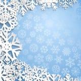 абстрактный вектор снежинок иллюстрации рождества предпосылки Стоковое Изображение