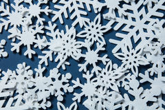 абстрактный вектор снежинок иллюстрации рождества предпосылки Стоковые Изображения