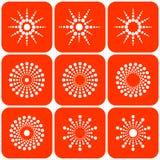 абстрактный вектор солнца икон Стоковое Фото