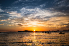 абстрактный вектор солнца моря иллюстрации Стоковые Фото