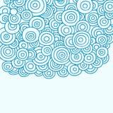 абстрактный вектор хны doodle кругов Стоковые Изображения RF