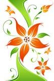 абстрактный вектор цветка бабочки предпосылки бесплатная иллюстрация