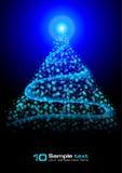 абстрактный вектор christma eps10 предпосылки накаляя Стоковое Фото