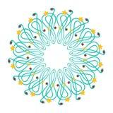 абстрактный венок свирлей рождества Стоковые Фото