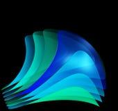 абстрактный вентилятор черноты предпосылки прозрачный Стоковая Фотография
