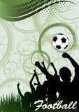 Абстрактный вертикальный плакат футбола Стоковые Изображения
