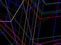 Абстрактный взаимодействующий цветной барьер Стоковые Изображения