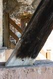 Абстрактный взгляд древесины интерьера конструкции замка Стоковые Изображения