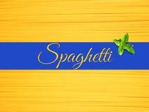 Абстрактный взгляд пука итальянских спагетти Стоковое фото RF