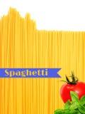 Абстрактный взгляд пука итальянских спагетти Стоковые Фото