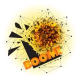 Абстрактный взрыв с острыми твердыми частицами Стоковые Изображения RF
