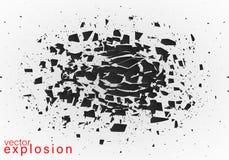 Абстрактный взрыв черноты иллюстрация вектора