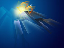 абстрактный взрыв Стоковое Изображение RF