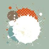 Абстрактный винтажный выплеск акварели Стоковая Фотография