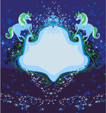 Абстрактный винтажный логотип лошадей Стоковая Фотография