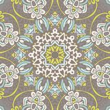 Абстрактный винтажный флористический этнический безшовный ornamental картины Стоковые Изображения